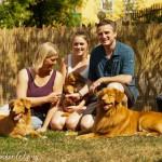Carola, Hannes und Greta mit Chaska